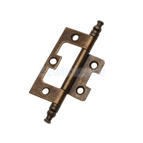 Antique Bronze Metal Flush Hinge With Finial For Cupboard