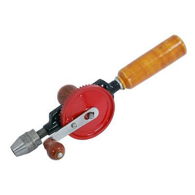 Hand Drill With Double Pinion Mechanism & Wooden Handle