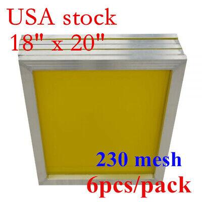 6pcs 18 X 20 Aluminum Frame Silk Screen Printing Screens 230 Yellow Mesh Hot