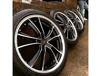 "Lenso 20"" alloys 5x114.3 20 inch michelin"