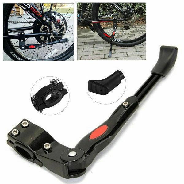 Black Road Bike Side Kickstand Mountain Bicycle Adjustable Alloy Kick Stand USA