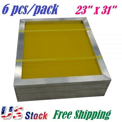 6 Pcs 23 X 31 Aluminum Silk Screen Printing Screens Frame 230 Yellow Mesh