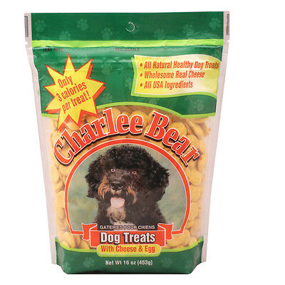 Charlee Bear 16 oz All Natural training Dog Treat With Cheese & Egg Flavor