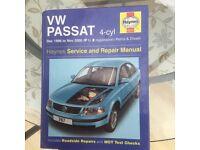 Haynes workshop manual for Passat