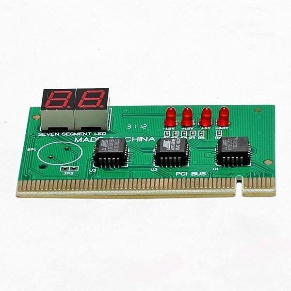 PCI PC DIAGNOSTIC 2-Digit CARD Motherboard POST Tester with Manual - CANADA