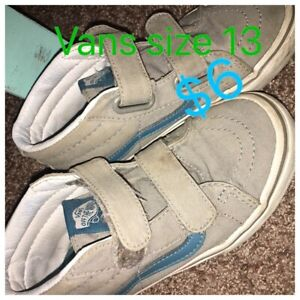 Vans size 13t kids shoes