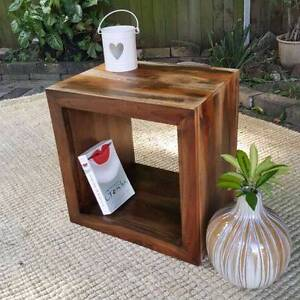Single Timber Storage Cube Rustic Coffee Side Table Coogee Eastern Suburbs Preview