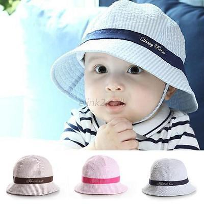 36542555 Toddler Baby Summer Outdoor Basin Cap Kids Girl Boy Sun Beach Bucket Hat  6-24M