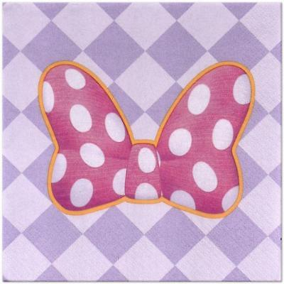 ms Party Lunch Dinner Napkins 16 Per Package Birthday New (Minnie Bowtique Party)