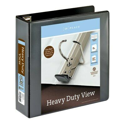 Office Depot Brand Heavy-duty View 3-ring Binder 3 D-rings Black