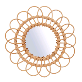 Brand new with tags large rattan mirror