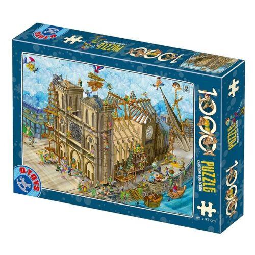 D-Toys 1000 Piece Puzzle - Cartoon Collection Notre Dame