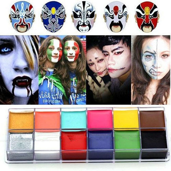 12 Colors Face Body Paint Oil Painting Art Make Up Halloween Party Kit Set Gift