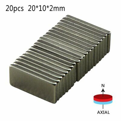 20pcs Strong Magnets Block Square Neodymium Small Magnet 20x10x2mm Us