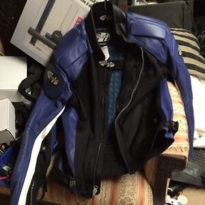 Motorcycle Jacket perforated leather with full take out liner London Ontario image 2