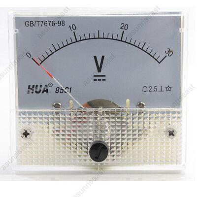 1 Dc 30v Analog Panel Volt Voltage Meter Voltmeter Gauge 85c1 White 0-30v Dc