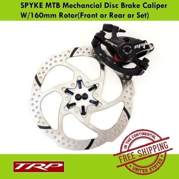 BICYCLE BIKE DISC BRAKE Front /& Rear 160mm ROTOR CALIPER w Center Adapter