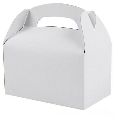White Party Treat Boxes (Pack of - Party Boxes