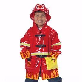 Kidorable kids fireman raincoat