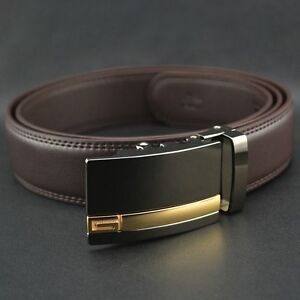 mens leather mens belt real leather ratchet belt automatic