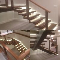 Edmonton wood staining and lacquering stairs rails and more