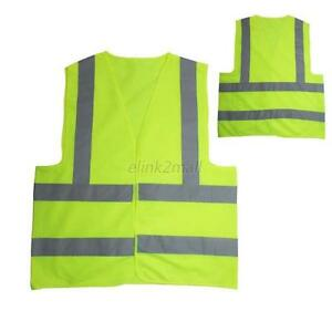 High-Visibility-Warning-Security-Safety-Reflective-Tape-Vest-Stripe-Workwear