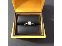 18ct white gold ring for sale with 0.5 carat Canadian diamond.