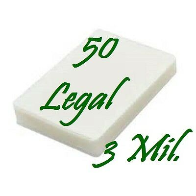 50 Legal Laminating Laminator Pouches Sheets 9 X 14-12 3 Mil Scotch Quality