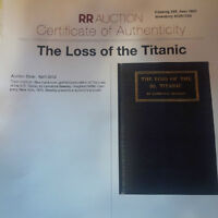 TITANIC ARTIFACTS - Certificates of Authenticity included
