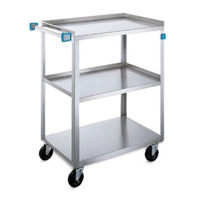 Standard Duty Stainless Steel Carts 3 Shelves 30.75l X 18.375w X 33h 1 Ea