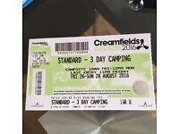 Creamfields Standard 3 day camping