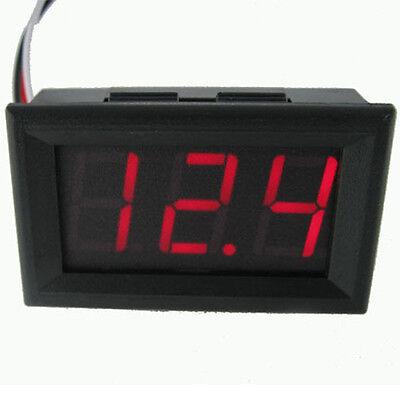Einbau LED Mini Digital Voltmeter max 30V Voltanzeige in ROT mit Gehäuse