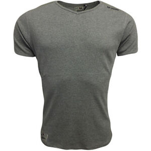 Mens T Shirt Duke London V Neck T-Shirt Ribbed Top Slim Fit All Sizes