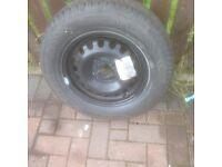Vauxhall corsa spare new wheel & tyre