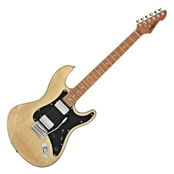 LA Select Electric Guitar HH By Gear4music Natural Flame