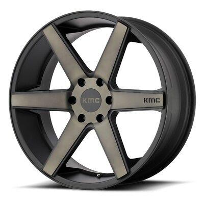 22 Inch Black Wheels Rims Cadillac Escalade GMC Yukon 1500 Denali KMC DIstrict 4