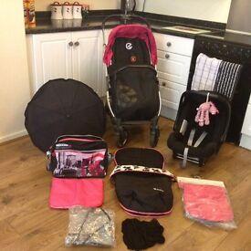 Oyster travel system, pram, pushchair, car seat etc