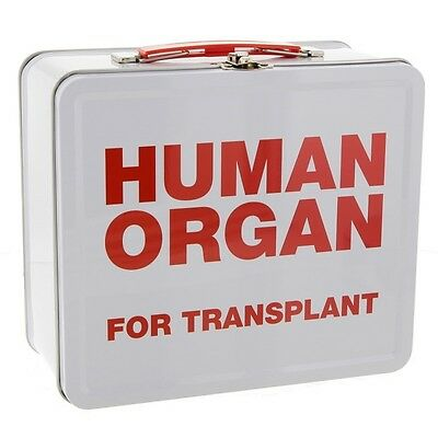 Human Organ Transplant Funny Lunch Box Metal Clasp Medical Tin Tote