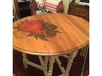 Oak barley twist table