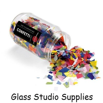 Bullseye Confetti (Bullseye Kiln Fusing Glass Confetti - Mini Mix 8418-04)