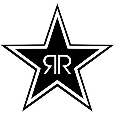 #100 ROCK STAR ENERGY DRINK ANY SIZE OR COLOR CUSTOM CUT VINYL DECAL STICKER