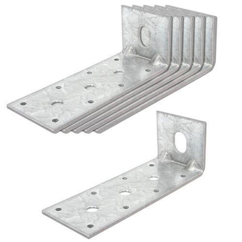 6 Packs 6 Inches Steel L Right Angle Bracket, Reinforcing Rib Corner Brace