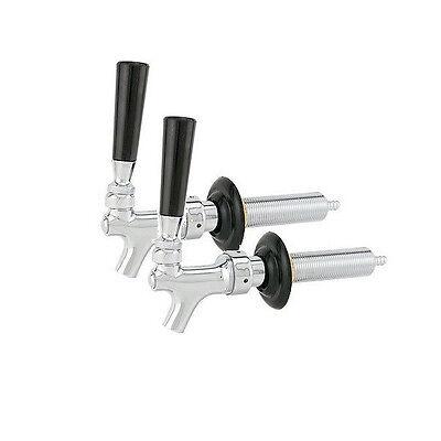 Chrome Beer Faucet And Shank Combo - Set Of 2 - Draft Beer Barpub Equipment Kit