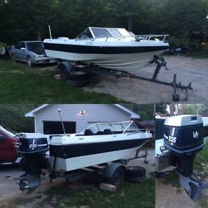 18ft bow rider style 235 horse evinrude