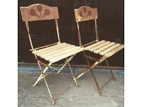 Pair of Vintage Folding French Cafe Chairs