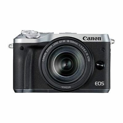 Near Mint! Canon EOS M6 18-150mm IS STM Silver - 1 year warranty