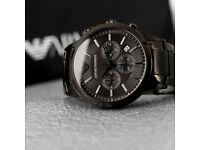 Brand New - Armani watch - Black Ceramic - Original Box, Book, Certificate, Tag