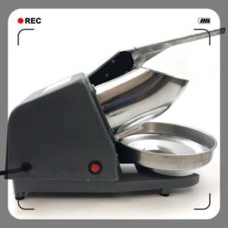 Electric Snow Cone Maker Ice Crusher Ice Shaver Machine Home
