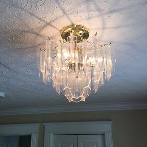 Vintage Lucite ceiling lights - 3