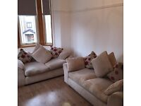 Sofa bed and sofa for sale pair